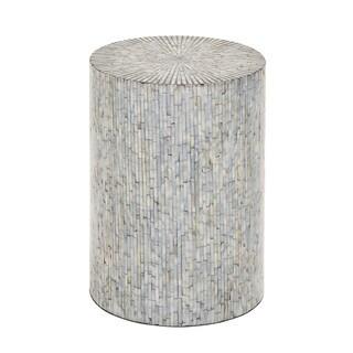 Wood Mosaic Inlay Stool
