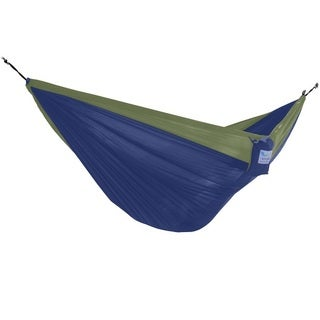 Parachute Navy/Olive Nylon Lightweight Portable Single Hammock