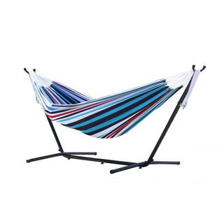 Combo Denim 9-foot Double Hammock with Stand