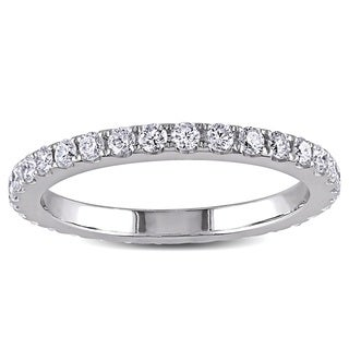 Miadora Signature Collection 14k White Gold 1 1/8ct TDW Diamond Eternity Ring (G-H, SI1-SI2)