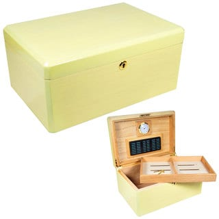 Cuban Crafters Colores Blanco White Citron 100-cigar Custom Humidor