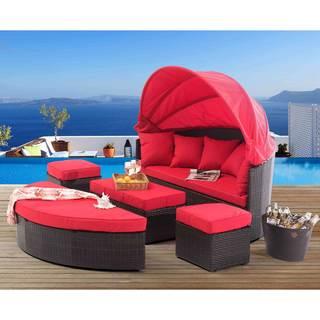 Sunjoy Marlee Red Aluminum Modular Set