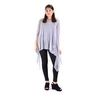 Women's Polyester Mesh Long Sleeve Tunic