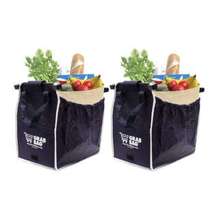 Grab Bag Blue Insulated 40-pound capacity Reusable Shopping Bags (Pack of 2)