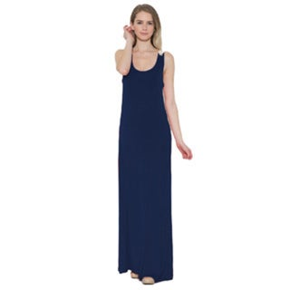 JED Women's Black, Blue Rayon and Spandex Lace Crochet Long Maxi Sundress