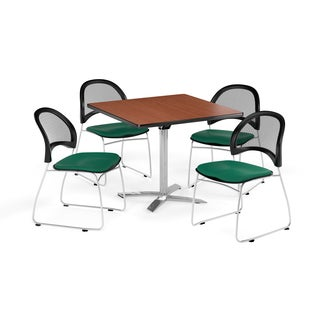 OFM 36-inch Round Multi Purpose Table with 4 Moon Chairs