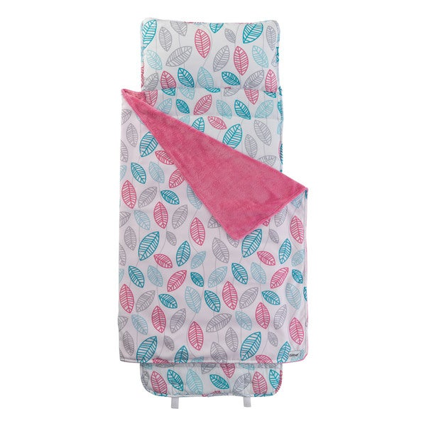 Pink and White Leaves Nap Mat
