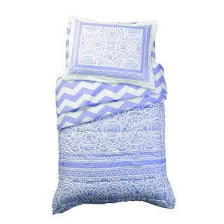 Lace and Chevron Lavender 4-piece Toddler Bedding Set