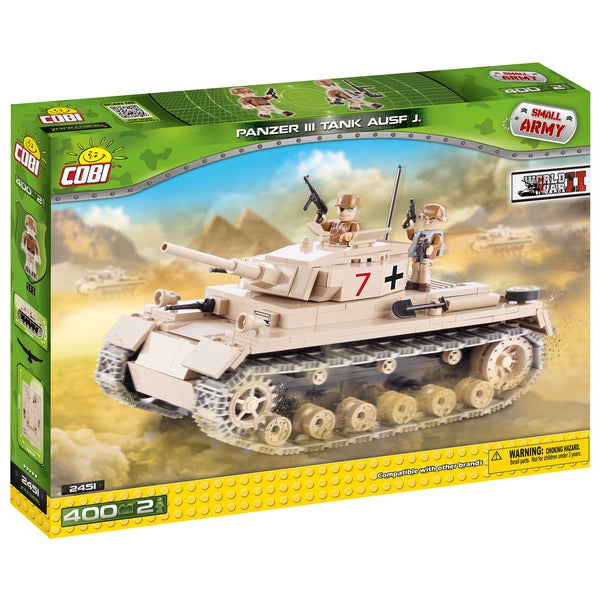 COBI Small Army German Panzer III Ausf. Multicolor Plastic Building Kit