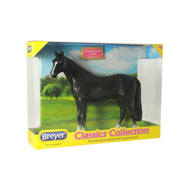 Breyer Classics Collection Black Plastic Thoroughbred Model Horse 18774551