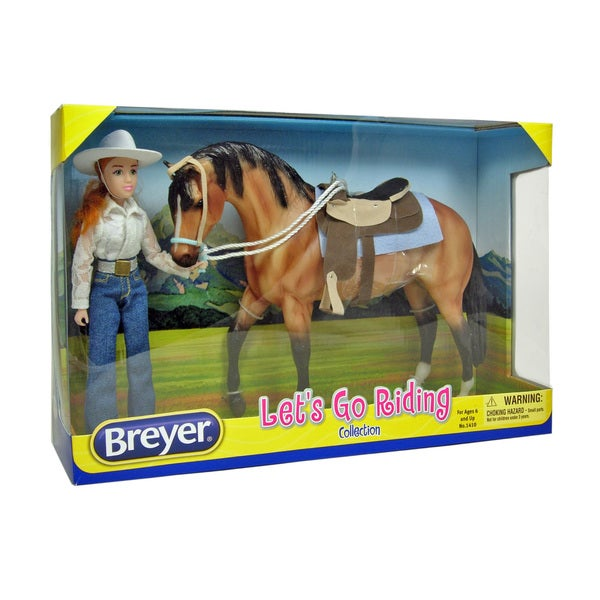 Breyer Let's Go Riding Collection Plastic Western Set 18774636