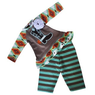 AnnLoren Brown Aztec Cowgirl Boot American Doll Outfit
