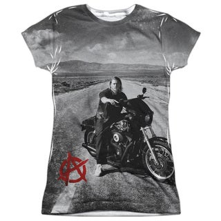 Sons Of Anarchy/Open Road Short Sleeve Junior Poly Crew in White