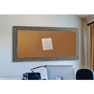 American Made Rayne Gray Barnwood Corkboard