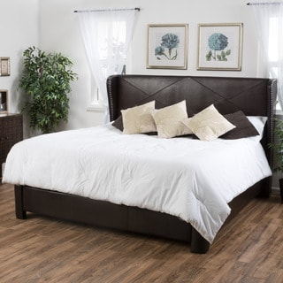 Christopher Knight Home Waterville King Bonded Leather Bed