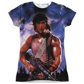 Rambo:First Blood/Drew First Short Sleeve Junior Poly Crew in White