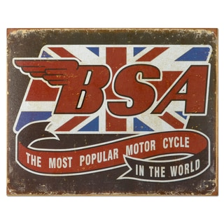 Vintage Metal 'BSA-Most Popular' Decorative Tin Sign