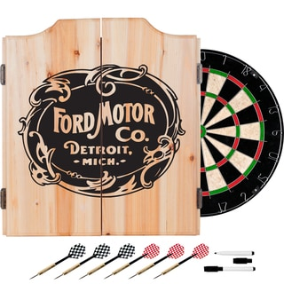 Ford Dart Cabinet Set with Darts and Board - Vintage Ford Motor Co.