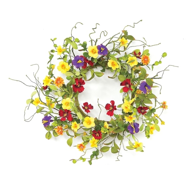 Summer Garden Trumpet Wreath
