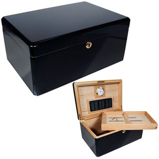 Cuban Crafters Colores Black Ebony/Cedar 100-cigar Humidor