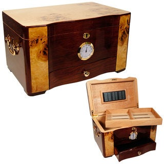 Best Humidors Cuban Crafters Cuban Elegance High-gloss Rosewood 120-cigar Humidor
