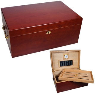 Cuban Crafters Perfecto Cherry Wood 120-cigar Humidor