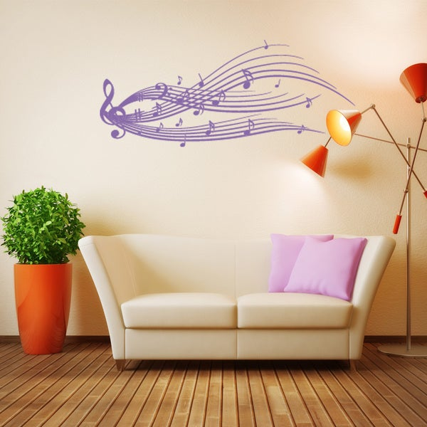 Style & Apply Music Staff Vinyl Wall Decal