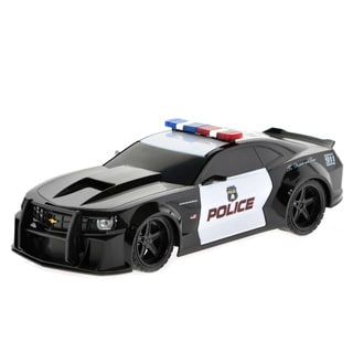 Chevy Camero Black Plastic Remote-controlled Police Car