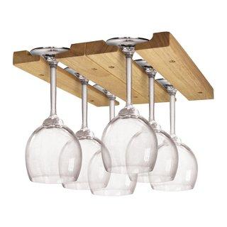 Fox Run Natural Wood Wine Glass Rack