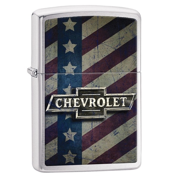 Zippo Chevy Star and Stripes Pocket Lighter