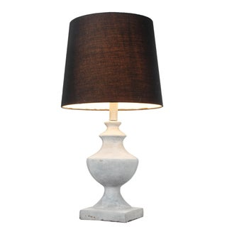 Jasper 12-inch x 23-inch Table Lamp with Black Shade