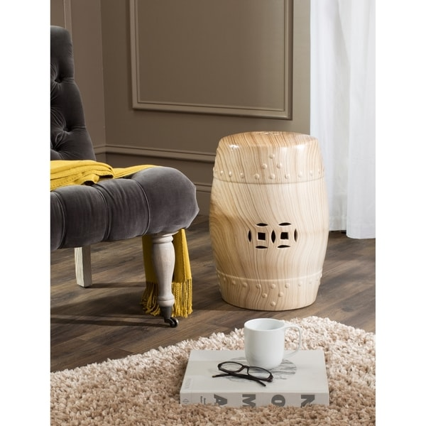 Safavieh Ming Forest Light Oak Garden Stool
