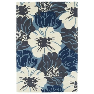 Hand-Tufted Seldon Blue Floral Rug (9'0 x 12'0)