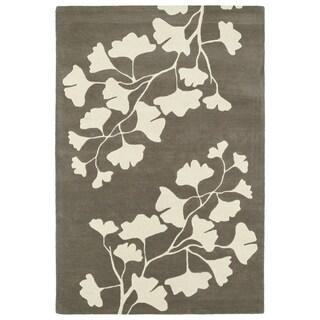 Hand-Tufted Seldon Grey Floral Shadow Rug (3'0 x 5'0)