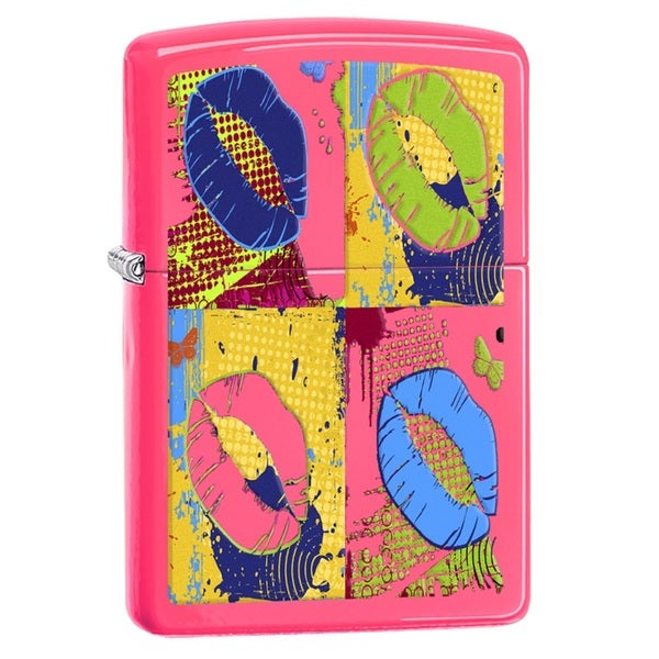 Zippo POP Lips Neon-pink Pocket Lighter
