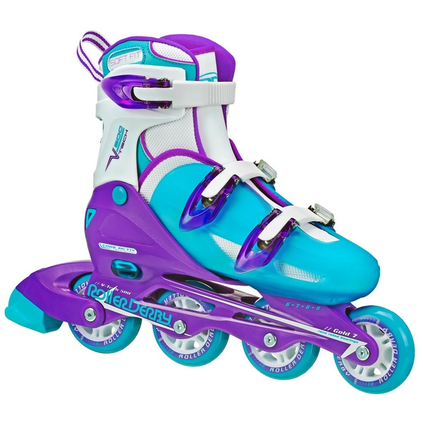 V-Tech 500 Roller Derby Girls' Adjustable Inline Skates