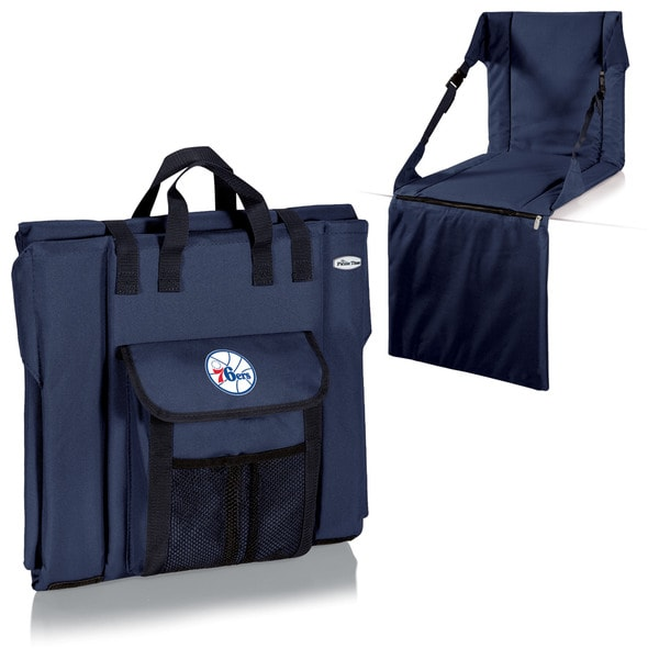 Picnic Time Philadelphia 76ers Navy Polyester Stadium Seat