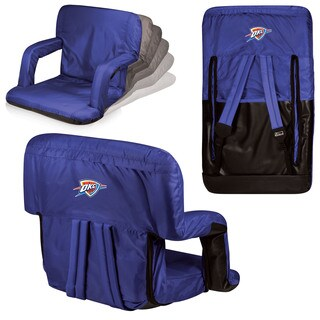 Picnic Time Navy Oklahoma City Thunder Ventura Seat Portable Recliner Chair