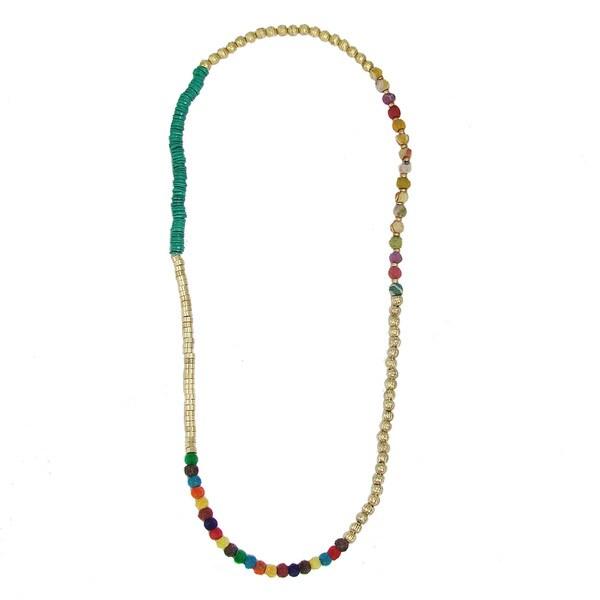Handmade Mixed Media Convertible Necklace/Bracelet (India)