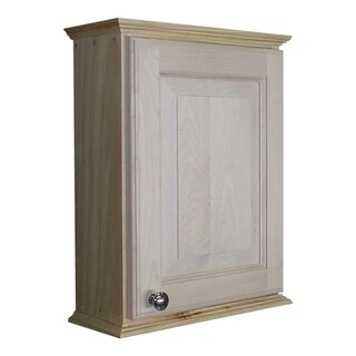 WG Wood Products Unfinished Wooden Wall Cabinet