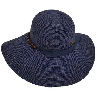 Hatch Hats Floppy Straw Bead-accent Sunhat