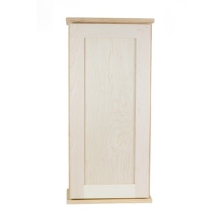 Ashton Series Unfinished Wood Wall Cabinet with 4 Adjustable Glass Shelves