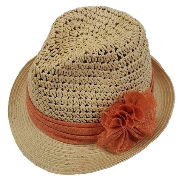 Hatch Women's Natural Straw Sea Coast Casual Packable Fedora