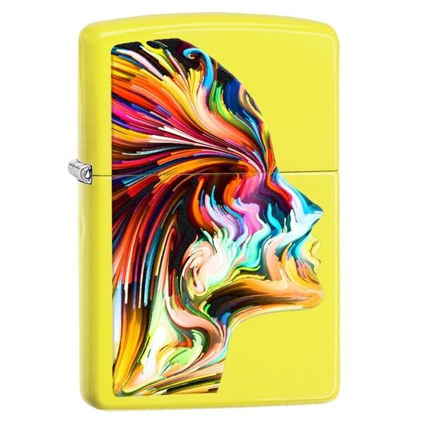 Zippo Multi-color Stainless Steel Pocket Lighter