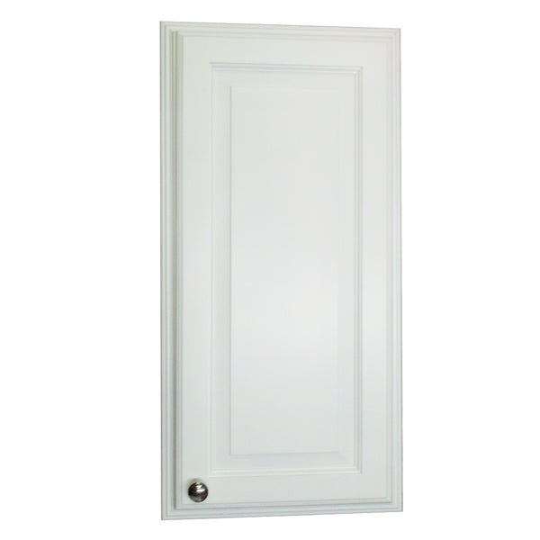 Barbados White Wood 31.5-inch x 15.5-inch x 3.5-inch Recessed Medicine Storage Cabinet With Adjustable Glass Shelves