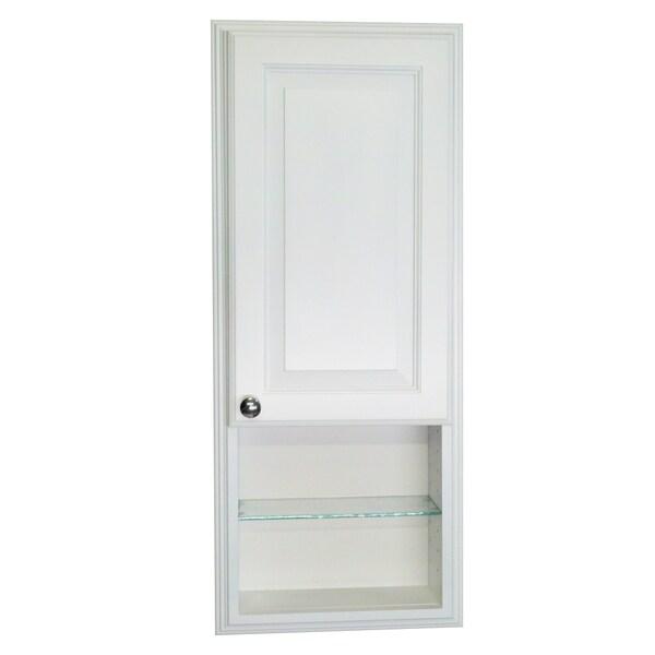 WG Wood Products Barabados White Enamel Finish Recessed Medicine Storage Cabinet