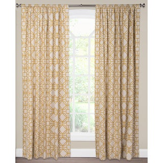 Nolo Geometric Lattice 50-inch x 80-inch Curtain Panel