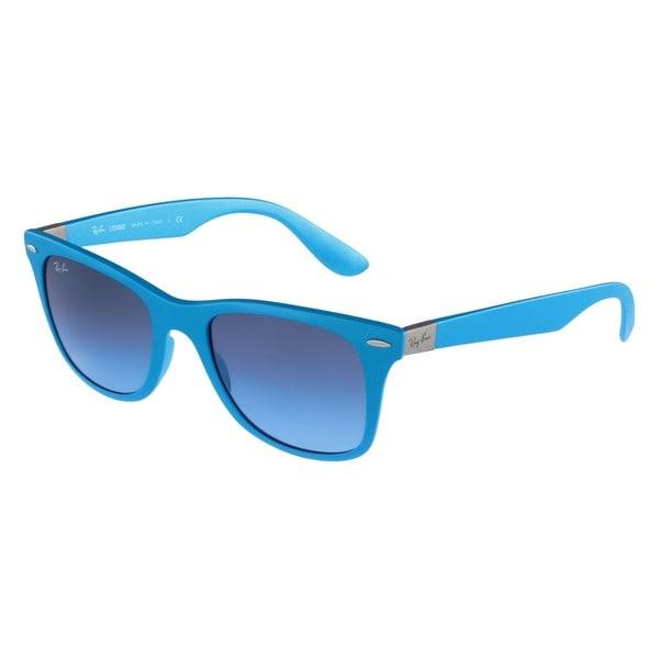 Ray-Ban Wayfarer Liteforce Brown Sunglasses, Polarized Brown Sunglasses Lenses - Rb4195 8053672069082