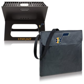 Utah Jazz X-Grill Picnic Time Black Metal and Polyester Portable BBQ Station