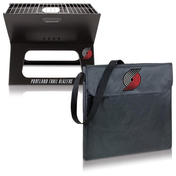 Picnic Time Portland Trail Blazers X-Grill Black Metal Compact Portable BBQ 18780112